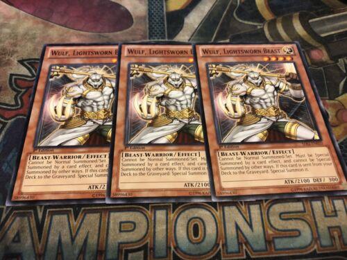 Lightsworn Beast SDLI-EN010 Yu-Gi-Oh Wulf 1st Common X3!