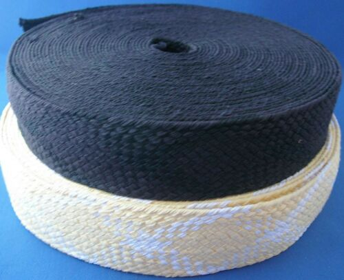 Black or Yellow and White Platted Webbing 60mm Wide Belt Quailty Web Craft K1