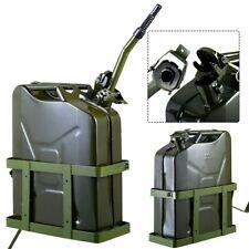 Goplus 5 Gallon 20L Gas Jerry Can Fuel Steel Tank w/ Holder Emergency Backup
