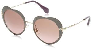 0535825c1475 Authentic MIU MIU Matte Beige Heart Sunglasses MU 54RS - U6H5P1  NEW ...