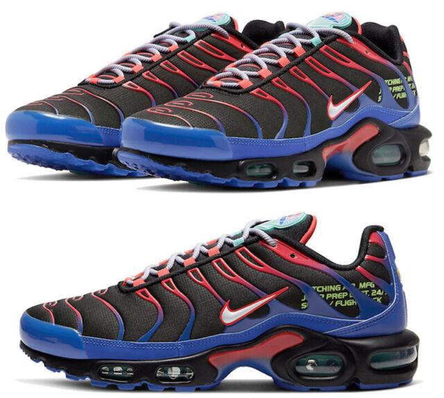 New NIKE Air Max Plus TN Men's Athletic Sneakers black crimson blue all  sizes