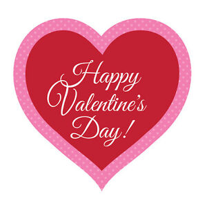 Happy Valentines Day Heart Red 16 Inch Cutout Paper Party