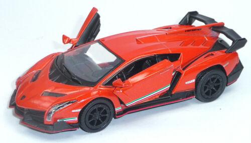 Lamborghini Veneno orange ca 1:36 Sammlermodell 12,5cm Neuware von KINSMART