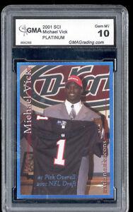 2001-Michael-Vick-Sports-Card-Investor-SCI-Platinum-rookie-gem-mint-10