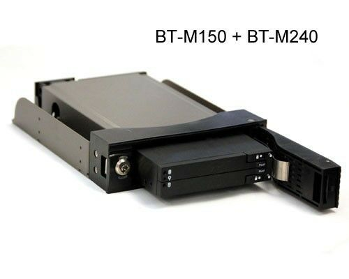 "Tray-less Design Bytecc BT-M240-BK Dual 2.5/"" SATA Internal Enclosure"