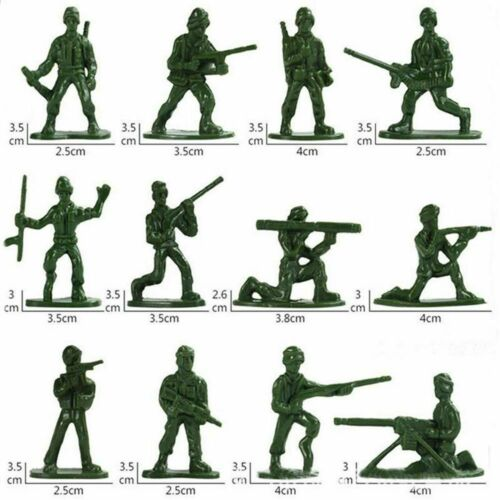 Aircraft Turret Tanks Plastic Soldiers Army Men Figures Military Toy 12 Poses