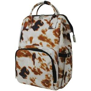 Cowhide Farm Print NGIL Diaper Bag Baby Kids Toddler Mom Backpack Free Ship! NEW