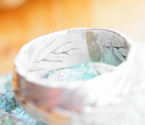 Silberring 71 Breit 11 mm Handarbeit Knoten Ring Silber Massiv Muster