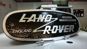 Land-Rover-Series-2-2a-3-Cast-Aluminium-Grill-OEM-Tub-Badge-Solihull-332670