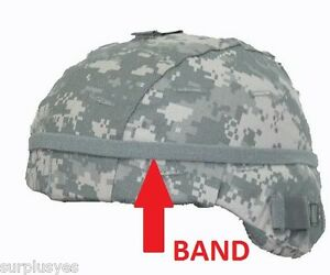BAND-HELMET-w-CAT-EYES-for-MICH-PASGT-ACU-ARMY-MILITARY-w-P38-Can-Opener