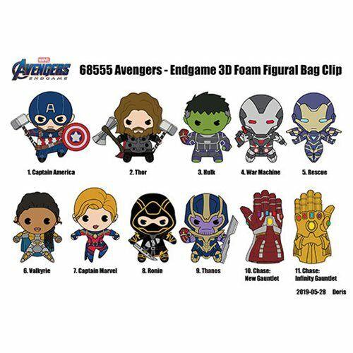 Blind Bag Keychain Marvel Key Capitaine Marvel Clip Avengers Endgame Neuf