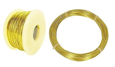 Brass Wire Round ( Dead Soft ) 12 To 26 Ga ( 1/2 Lb. Spool Or Coil / Made In USA