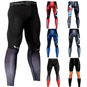 Men's Compression Pants Long Legging Workout Athletic Training Baselayer Dri-fit