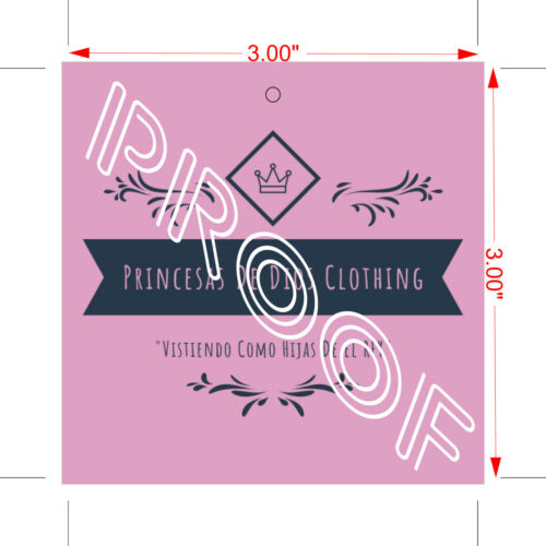 300 Custom Printed Hang Tags Price Dress Labels Square//Rectangle Shaped Tags