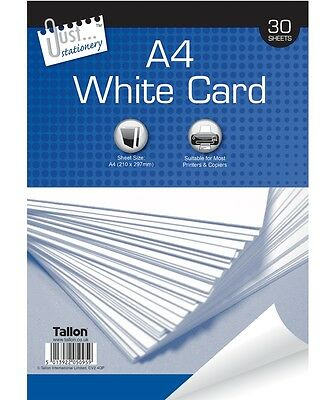 30 SHEETS 150GSM A4 WHITE PAPER BOARD PAD CARD ARTISTS SKETCH PROJECTS ART 5095