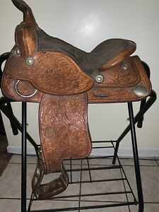 TEX TAN BRAHMA BRAND Youth Pony Saddle