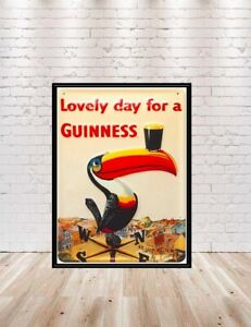 13x19 18x24 16x20 Guinness Parrot Poster Lovely Day for a Guinness 8x10 11x14