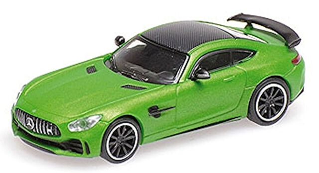 Mercedes AMG GT R Coupe grün green metallic 2017 1:87 Minichamps