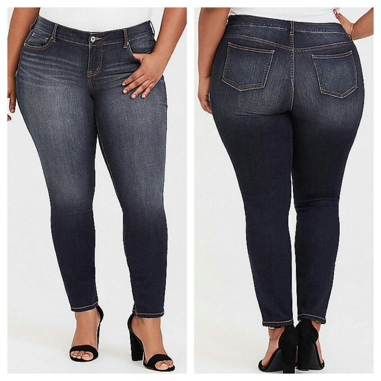 Torrid Womens Jeans Skinny Dark Wash Plus Size 18 NWT