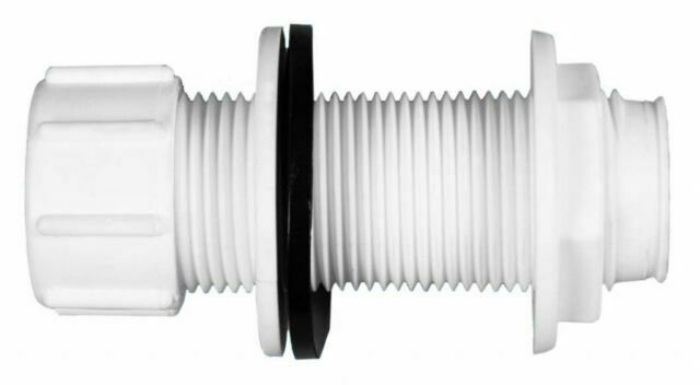 Polypipe Straight Push Fit Overflow System Tank Plumbing Connector White 21.5mm