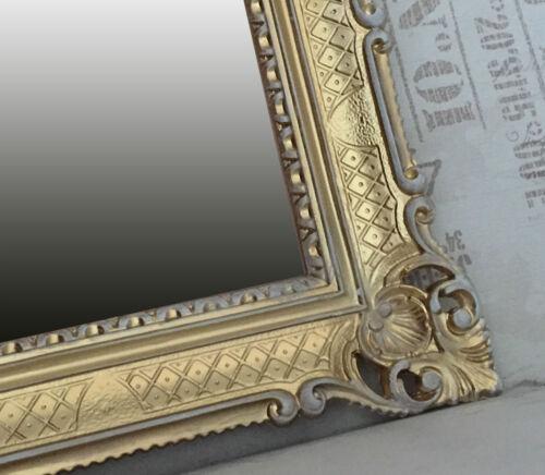 Miroir mural or noir ANTIQUE BAROQUE ROCOCO 90x70 décoration