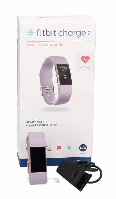 Fitbit Charge 2 Heart Rate Fitness Special Edition Lavender Rose Goldlarge