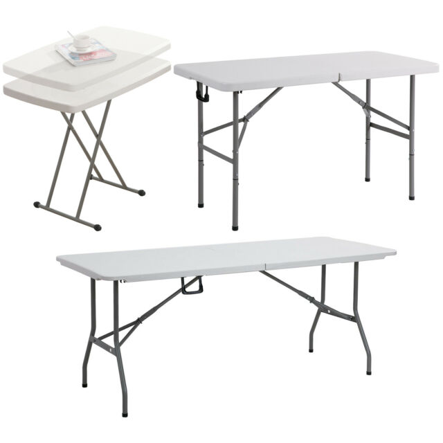 8ft Foot Aluminium Folding 4 Section Table Catering Camping Trade Show Market
