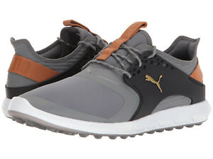 12dcb4c549dfbe Puma PWRSPORT Golf Shoes 2018 Quiet Shade Gold Black 190583 04 NEW ...