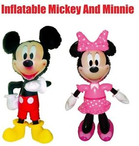 52cm Inflatable Mickey Minnie Mouse Figure Disney Character Kids Toy Party Theme
