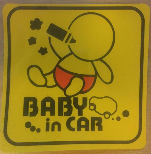 BABY IN CAR sticker newborn baby girl boy gift car window baby on board sticker
