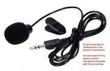 Mini Clip Collar 3.5mm AUX Plug PC Laptop Desktop Microphone Mic