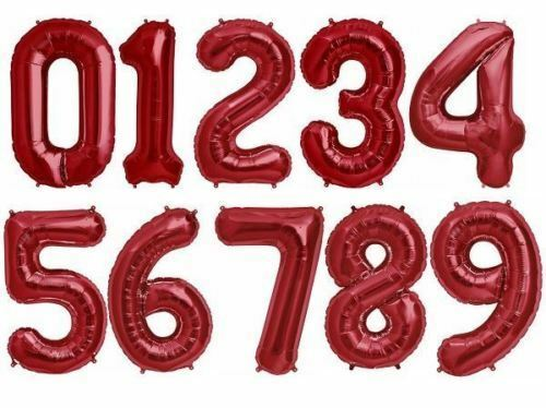 """34/"""" Giant Foil Number Large Helium Air Balloons Happy Birthday Party Gifts"""