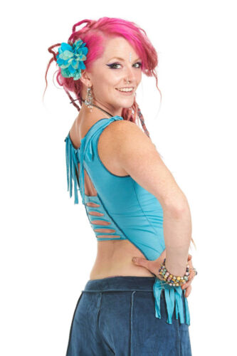 Floaty Open Back Fairy Top Elf Top Festival Rave Top Trance Clothing Boho Top