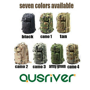 Outdoor Hinking Sports Travel 3P Tactical Backpack Military Bag Rucksack Tan
