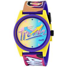 Neff Men's Unisex Daily Wild Watch Multi Yellow Timepiece Streetwear Casual