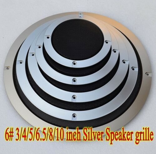 1ps 6# 3//4//5//6.5//8//10 inch Silver Speaker grille Subwoofer decorative circle