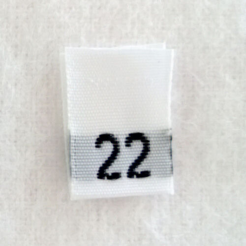 Qty 100 size 22 Twenty-Two clothing woven labels tags tab label tag