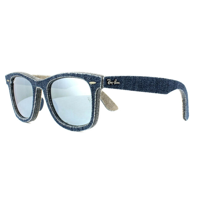 b574604cfc Ray-Ban Sunglasses Wayfarer 2140 119430 Denim Dark Blue Silver Mirror 50mm M