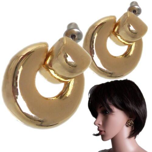 Aretes pendientes oro creolen 2cm bisutería joyas de oro joyas señora o1769