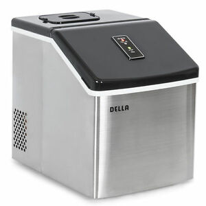 Della Electric Ice Maker Machine Portable Counter Top Yield Up To 28 Pounds  O..