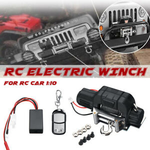 Metal 1//8 Motor Winch /& Controller for Traxxas TRX-4 Axial SCX10 RC4WD D90 Car