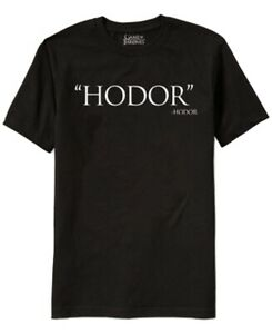 Game-Of-Thrones-Mens-T-Shirts-Black-Size-Large-L-Hodor-Print-Graphic-Tee-119