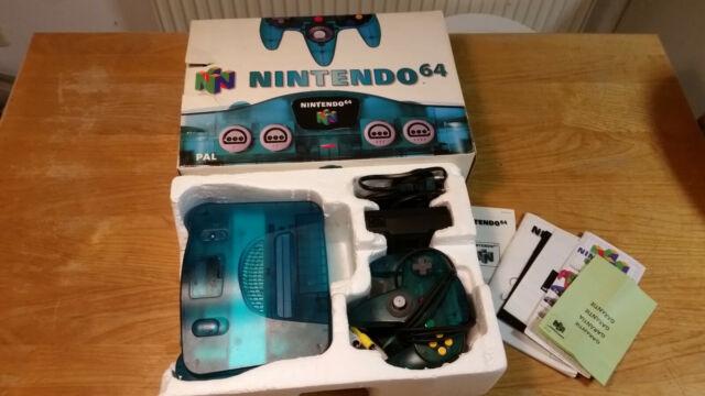 Nintendo 64 N64 Konsole funtastic Ice Blue Transparent blau OVP