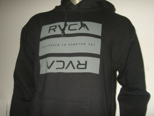 Nwt Men/'s S-M Navy Blue RVCA VA The Balance Of Opposites Pullover Hoodie Sweater