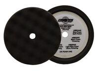 Buff And Shine 8 Finishing Black Waffle Foam Hook-it Buffing Pad 820wg