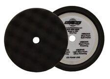 """BUFF AND SHINE 8"""" FINISHING BLACK WAFFLE FOAM HOOK-IT BUFFING PAD 820WG"""