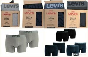 Levi-039-s-Levis-Mens-2-Pack-New-Cotton-Stretch-Boxer-Shorts-Mens-200SF-BNWT