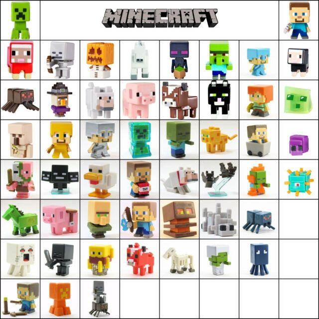 Minecraft Mini Figure Series 1 Grass & 2 Stone & 3 Netherrack Loose Choose New
