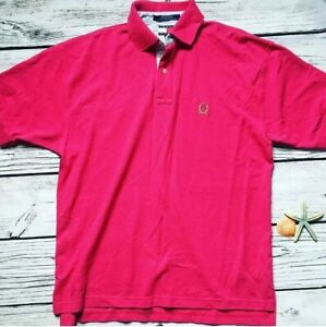 Details about Vintage 90s Tommy Hilfiger Polo Tommy Flag Label Polo Red Medium