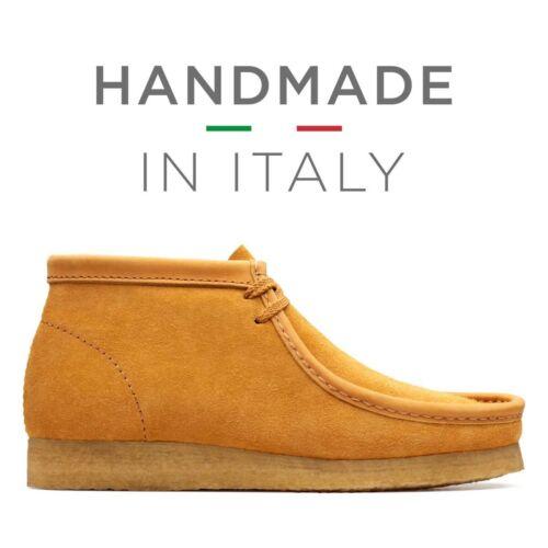 Clarks Originals Men ** Wallabee Orange Suede Hand Made Italy ** UK 7,8,9,10 G